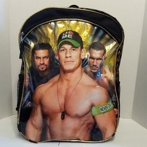 WWE boys full size back pack gold and black